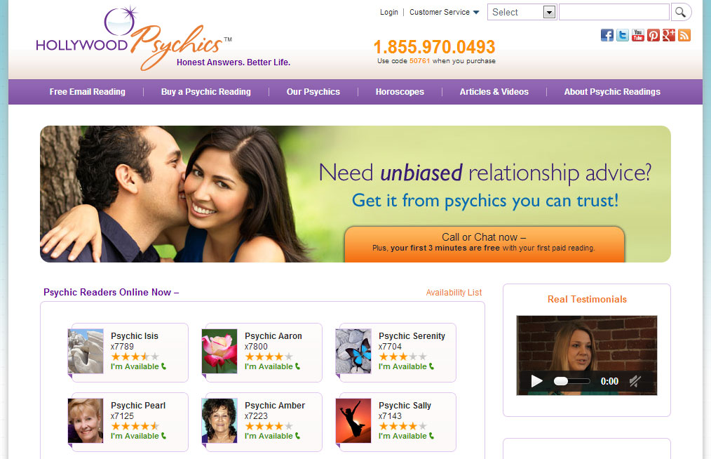 Hollywood Psychics Chat Online Network