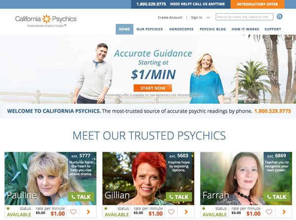 california psychics network